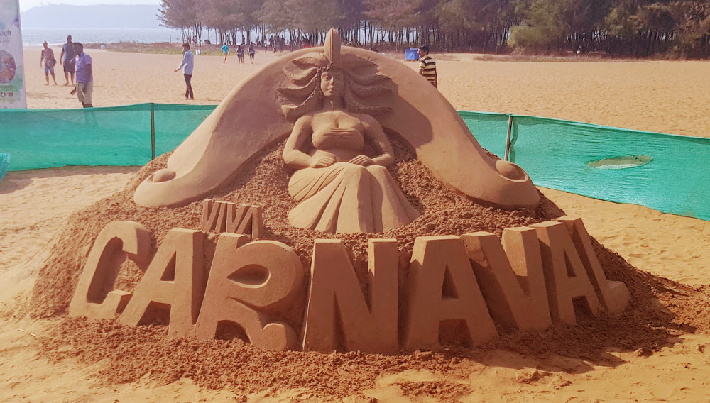 Goa Carnival Sand Sculpture