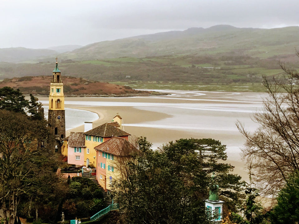 Portmeirion view of the bay