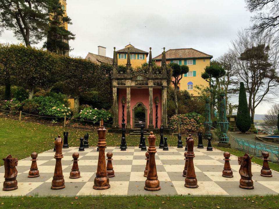 Portmeirion outdoor chess