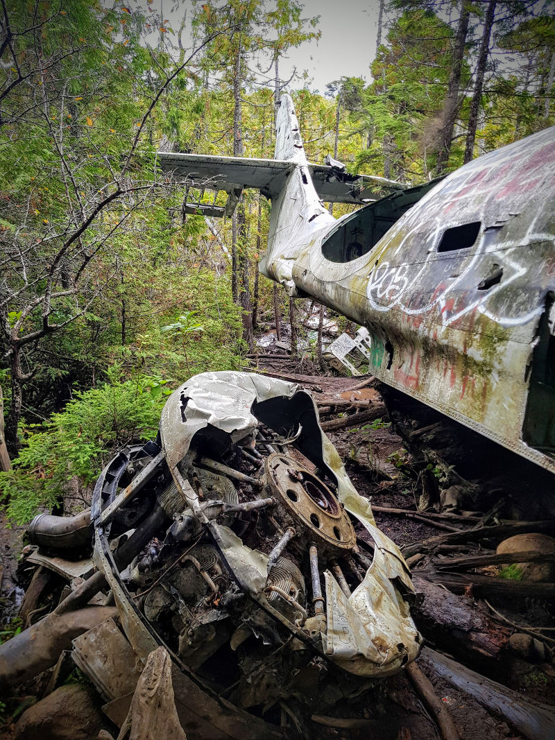 Canso plane crash site